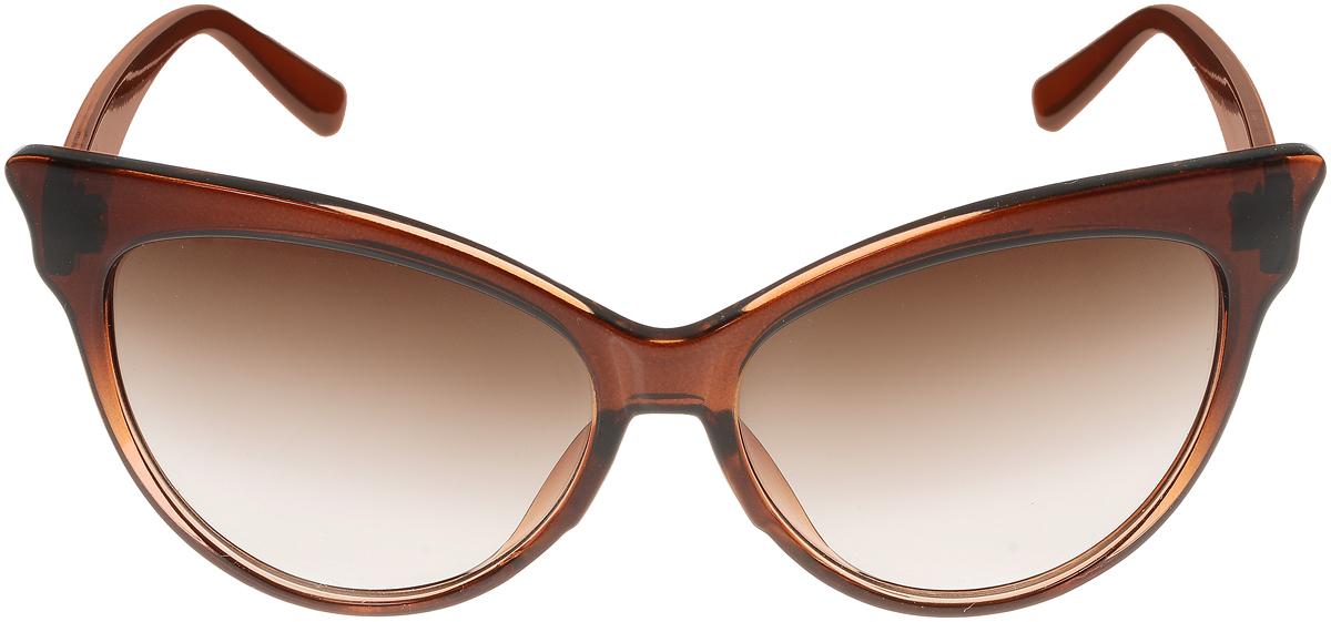 Очки солнцезащитные женские Vittorio Richi, цвет: коричневый. ОС5010с82-21-12/17fОС5010с82-21-12/17fОчки солнцезащитные Vittorio Richi это знаменитое итальянское качество и традицыонно изысканный дизайн.