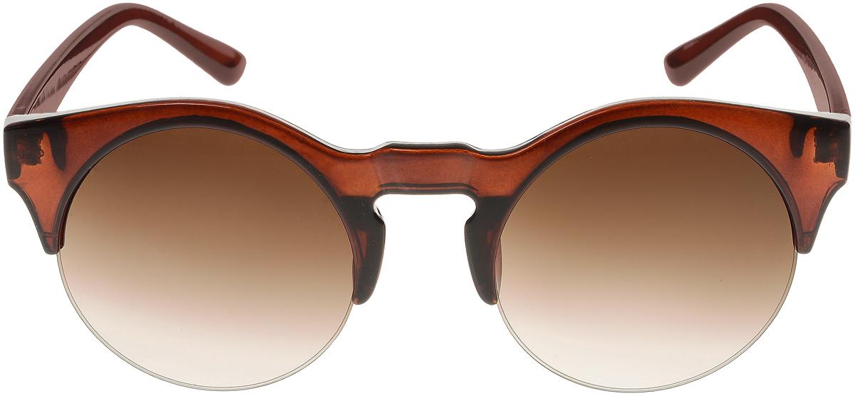 Очки солнцезащитные женские Vittorio Richi, цвет: коричневый. ОС4260с2/17fОС4260с2/17fСолнцезащитные очки Vittorio Richi выполнены из высококачественного пластика. Пластик используемый при изготовлении линз не искажает изображение, не подвержен нагреванию и вредному воздействию солнечных лучей. Оправа очков легкая, прилегающей формы и поэтому обеспечивает максимальный комфорт. Такие очки защитят глаза от ультрафиолетовых лучей, подчеркнут вашу индивидуальность и сделают ваш образ завершенным.