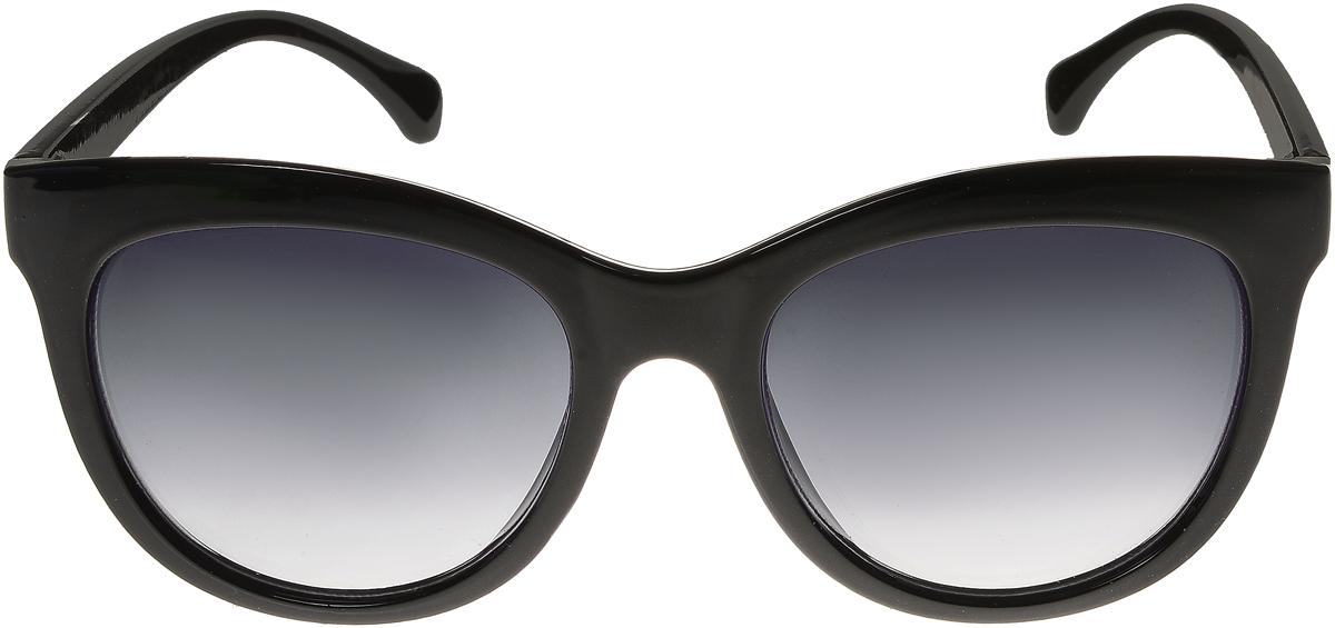 Очки солнцезащитные женские Vittorio Richi, цвет: черный. ОС5108с80-10/17fОС5108с80-10/17fЭлегантные солнцезащитные очки Vittorio Richi выполнены из высококачественного пластика. Пластик используемый при изготовлении линз не искажает изображение, не подвержен нагреванию и вредному воздействию солнечных лучей. Оправа очков легкая, прилегающей формы и поэтому обеспечивает максимальный комфорт. Такие очки защитят глаза от ультрафиолетовых лучей, подчеркнут вашу индивидуальность и сделают ваш образ завершенным.