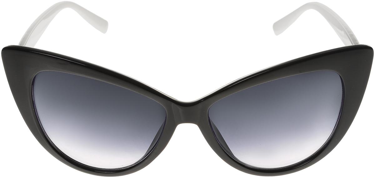 Очки солнцезащитные женские Vittorio Richi, цвет: черный, белый. ОС5015с80-10-8/17fОС5015с80-10-8/17fСолнцезащитные очки Vittorio Richi выполнены из высококачественного пластика. Пластик используемый при изготовлении линз не искажает изображение, не подвержен нагреванию и вредному воздействию солнечных лучей. Оправа очков легкая, прилегающей формы и поэтому обеспечивает максимальный комфорт. Такие очки защитят глаза от ультрафиолетовых лучей, подчеркнут вашу индивидуальность и сделают ваш образ завершенным.