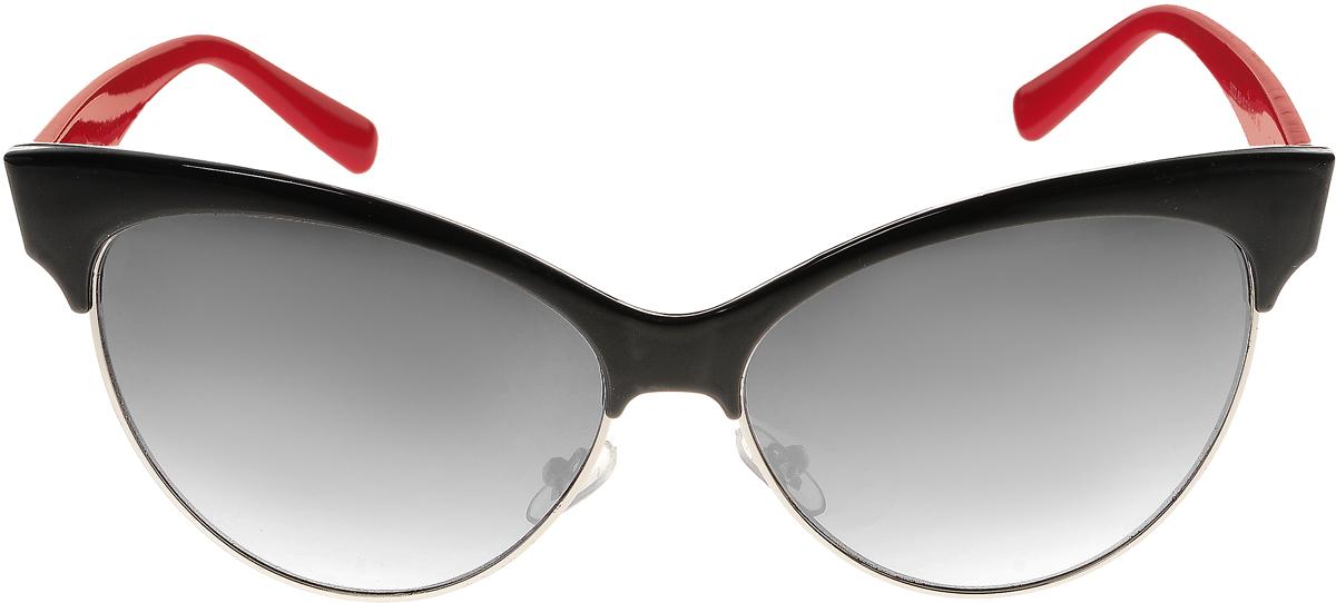 Очки солнцезащитные женские Vittorio Richi, цвет: черный, красный. ОС5022с83-10-2/17fОС5022с83-10-2/17fСолнцезащитные очки Vittorio Richi выполнены из высококачественного пластика и металла. Пластик используемый при изготовлении линз не искажает изображение, не подвержен нагреванию и вредному воздействию солнечных лучей. Оправа очков легкая, прилегающей формы и поэтому обеспечивает максимальный комфорт. Такие очки защитят глаза от ультрафиолетовых лучей, подчеркнут вашу индивидуальность и сделают ваш образ завершенным.