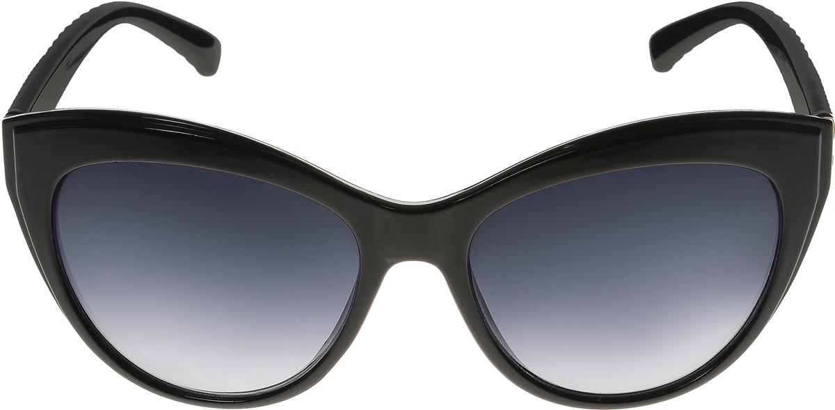 Очки солнцезащитные женские Vittorio Richi, цвет: черный. OC8067c80-10/17fOC8067c80-10/17fСолнцезащитные очки Vittorio Richi выполнены из высококачественного пластика. Пластик используемый при изготовлении линз не искажает изображение, не подвержен нагреванию и вредному воздействию солнечных лучей. Оправа очков легкая, прилегающей формы и поэтому обеспечивает максимальный комфорт. Такие очки защитят глаза от ультрафиолетовых лучей, подчеркнут вашу индивидуальность и сделают ваш образ завершенным.
