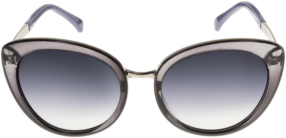 Очки солнцезащитные женские Vittorio Richi, цвет: черный, серо-синий. OC8006c80-24/17fOC8006c80-24/17fЭлегантные солнцезащитные очки Vittorio Richi выполнены из высококачественного пластика и металла. Пластик используемый при изготовлении линз не искажает изображение, не подвержен нагреванию и вредному воздействию солнечных лучей. Оправа очков легкая, прилегающей формы и поэтому обеспечивает максимальный комфорт. Такие очки защитят глаза от ультрафиолетовых лучей, подчеркнут вашу индивидуальность и сделают ваш образ завершенным.