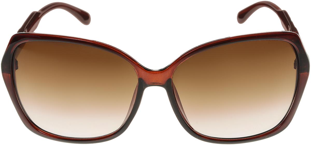 Очки солнцезащитные женские Vittorio Richi, цвет: коричневый. ОС5017с81-11/17fОС5017с81-11/17fЭлегантные солнцезащитные очки Vittorio Richi выполнены из высококачественного пластика. Пластик используемый при изготовлении линз не искажает изображение, не подвержен нагреванию и вредному воздействию солнечных лучей. Оправа очков легкая, прилегающей формы и поэтому обеспечивает максимальный комфорт. Такие очки защитят глаза от ультрафиолетовых лучей, подчеркнут вашу индивидуальность и сделают ваш образ завершенным.