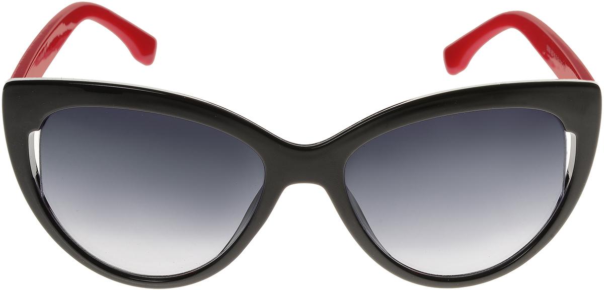 Очки солнцезащитные женские Vittorio Richi, цвет: черный, красный. ОС5006с80-10-2/17fОС5006с80-10-2/17fЭлегантные солнцезащитные очки Vittorio Richi выполнены из высококачественного пластика. Пластик используемый при изготовлении линз не искажает изображение, не подвержен нагреванию и вредному воздействию солнечных лучей. Оправа очков легкая, прилегающей формы и поэтому обеспечивает максимальный комфорт. Такие очки защитят глаза от ультрафиолетовых лучей, подчеркнут вашу индивидуальность и сделают ваш образ завершенным.