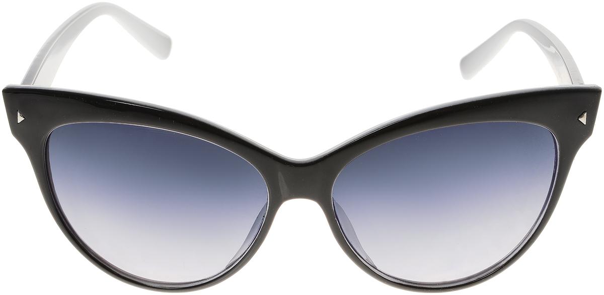 Очки солнцезащитные женские Vittorio Richi, цвет: черный, белый. ОС5008с80-13-1/17fОС5008с80-13-1/17fЭлегантные солнцезащитные очки Vittorio Richi выполнены из высококачественного пластика. Пластик используемый при изготовлении линз не искажает изображение, не подвержен нагреванию и вредному воздействию солнечных лучей. Оправа очков легкая, прилегающей формы и поэтому обеспечивает максимальный комфорт. Такие очки защитят глаза от ультрафиолетовых лучей, подчеркнут вашу индивидуальность и сделают ваш образ завершенным.