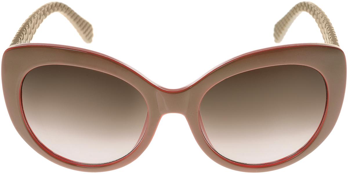 Очки солнцезащитные женские Vittorio Richi, цвет: бежевый. ОС5110с82-44-9/17fОС5110с82-44-9/17fЭлегантные солнцезащитные очки Vittorio Richi выполнены из высококачественного пластика. Пластик используемый при изготовлении линз не искажает изображение, не подвержен нагреванию и вредному воздействию солнечных лучей. Оправа очков легкая, прилегающей формы и поэтому обеспечивает максимальный комфорт. Такие очки защитят глаза от ультрафиолетовых лучей, подчеркнут вашу индивидуальность и сделают ваш образ завершенным.