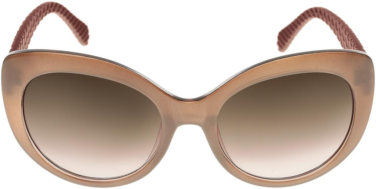 Очки солнцезащитные женские Vittorio Richi, цвет: темно-бежевый, коричневый. ОС5110с82-42-9/17fОС5110с82-42-9/17fЭлегантные солнцезащитные очки Vittorio Richi выполнены из высококачественного пластика. Пластик используемый при изготовлении линз не искажает изображение, не подвержен нагреванию и вредному воздействию солнечных лучей. Оправа очков легкая, прилегающей формы и поэтому обеспечивает максимальный комфорт. Такие очки защитят глаза от ультрафиолетовых лучей, подчеркнут вашу индивидуальность и сделают ваш образ завершенным.