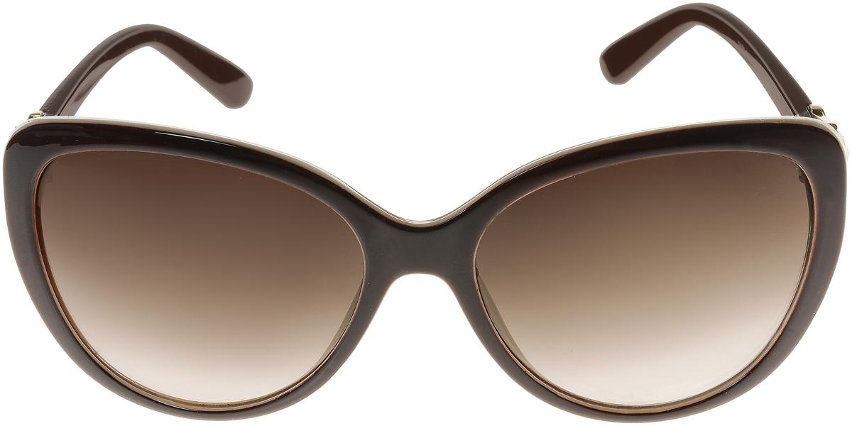 Очки солнцезащитные женские Vittorio Richi, цвет: темно-коричневый, молочный. ОС2062с82-12-9/17fОС2062с82-12-9/17fЭлегантные солнцезащитные очки Vittorio Richi выполнены из высококачественного пластика и металла, декорированы стразами. Пластик используемый при изготовлении линз не искажает изображение, не подвержен нагреванию и вредному воздействию солнечных лучей. Оправа очков легкая, прилегающей формы и поэтому обеспечивает максимальный комфорт. Такие очки защитят глаза от ультрафиолетовых лучей, подчеркнут вашу индивидуальность и сделают ваш образ завершенным.
