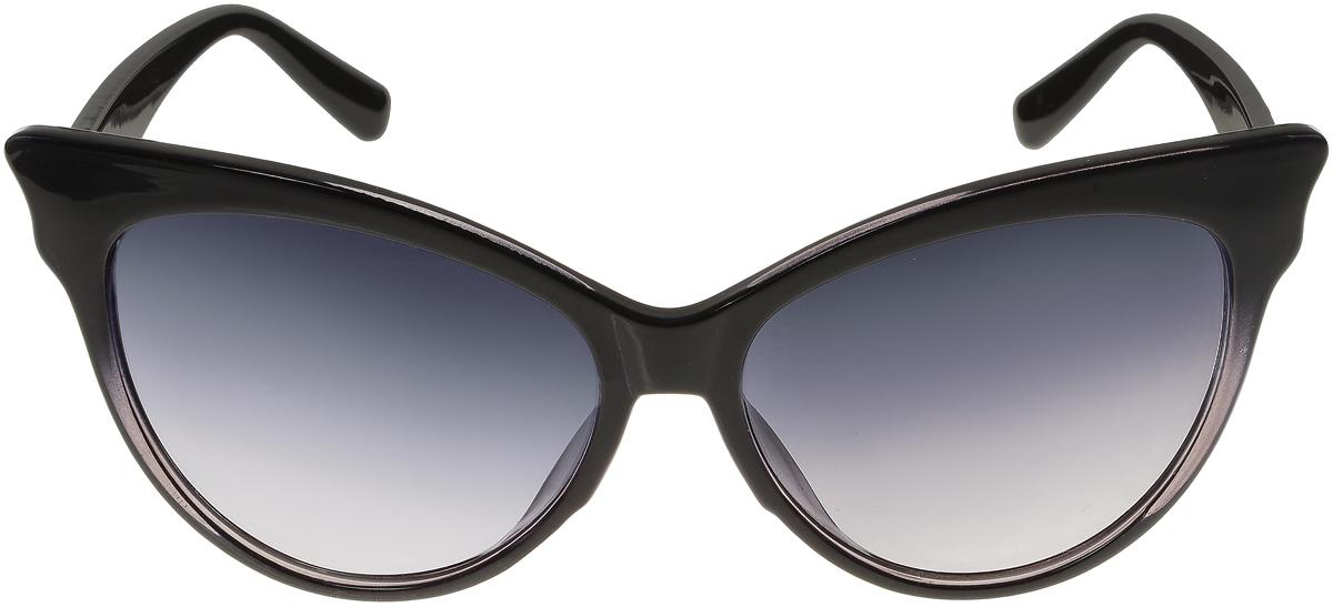 Очки солнцезащитные женские Vittorio Richi, цвет: черный. ОС5010с80-22-4/17fОС5010с80-22-4/17fЭлегантные солнцезащитные очки Vittorio Richi выполнены из высококачественного пластика. Пластик используемый при изготовлении линз не искажает изображение, не подвержен нагреванию и вредному воздействию солнечных лучей. Оправа очков легкая, прилегающей формы и поэтому обеспечивает максимальный комфорт. Такие очки защитят глаза от ультрафиолетовых лучей, подчеркнут вашу индивидуальность и сделают ваш образ завершенным.