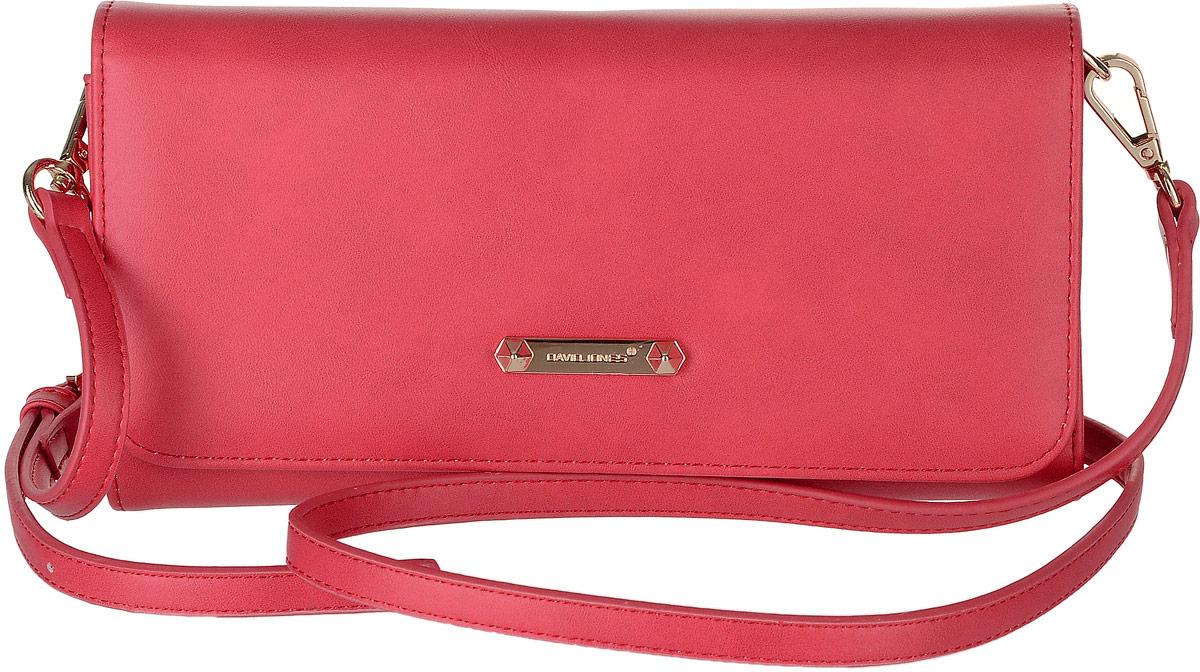 Сумка женская David Jones, цвет: красный. 5504-15504-1 REDСтильная женская сумка David Jones выполнена из экокожи. Сумка имеет три отделения, закрывающееся на застежку-молнию, клапан и магнитную кнопку. Внутри модель имеет карман на молнии, четыре кармана для пластиковых карт и один скрытый карман. Изделие оснащено съемным плечевым ремнем.