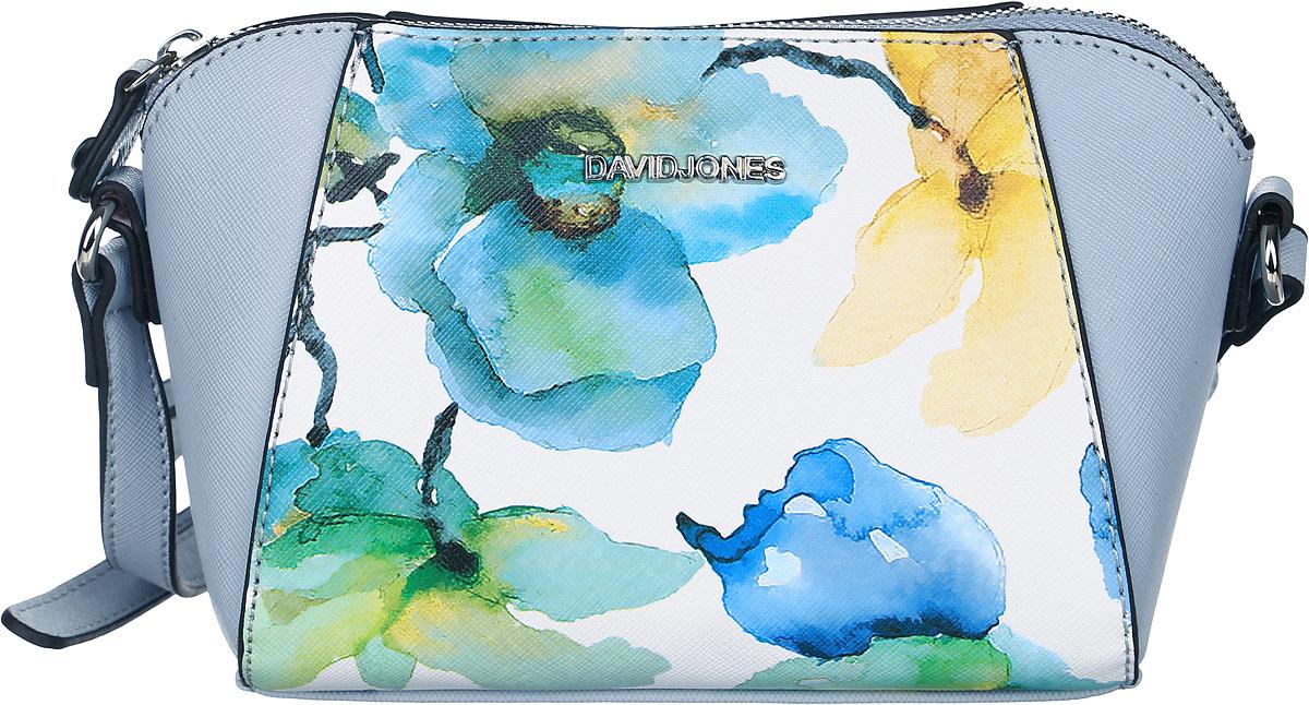 Сумка женская David Jones, цвет: серо-голубой. СМ3320СМ3320 PALE/BLUEЖенская сумка David Jones выполнена из высококачественной экокожи. Модель застегивается на застежку-молнию. Внутри расположен карман на застежке- молнии. Сумка оснащена съемным плечевым ремнем, который регулируется по длине.