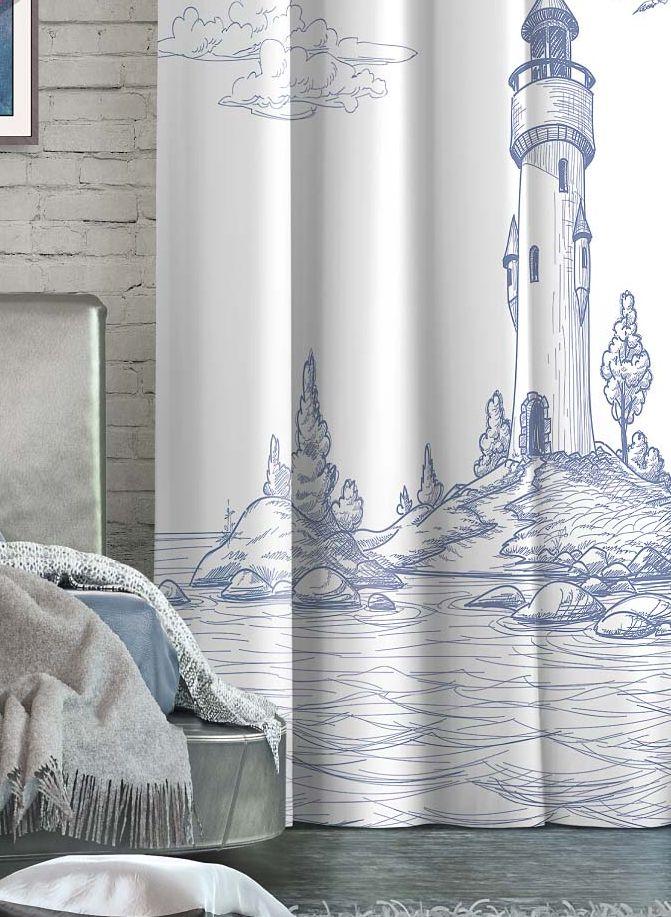 Штора Волшебная ночь Lighthouse, на ленте, высота 270 см705508Шторы коллекции Волшебная ночь - это готовое решение для Вашего интерьера, гарантирующее красоту, удобство и индивидуальный стиль! Штора изготовлена из приятной на ощупь ткани ГАБАРДИН, которая плотно драпирует окно, но позволяет свету частично проникать внутрь. Длина шторы регулируется с помощью клеевой паутинки (в комплекте). Изделие крепится на вшитую шторную ленту: на крючки или путем продевания на карниз. Дизайнеры Марки предлагают уже сформированные комплекты штор из различных тканей и рисунков для создания идеальной композиции на окне. Для удобства выбора дизайны штор распределены в стилевые коллекции: ЭТНО, ВЕРСАЛЬ, ЛОФТ, ПРОВАНС. В коллекции Волшебная ночь к данной шторе Вы также сможете подобрать шторы из других тканей: БЛЭКАУТ (100% затемнение), сатен (частичное затемнение) и ВУАЛЬ (практически нулевое затемнение), которые будут прекрасно сочетаться по дизайну и обеспечат особый уют Вашему дому.