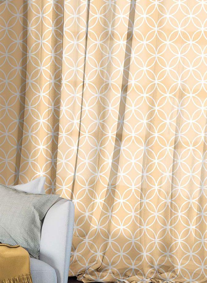 Комплект штор Волшебная ночь Chocolate Mandarin, на ленте, высота 270 см, 2 шт704561Шторы коллекции Волшебная ночь - это готовое решение для Вашего интерьера, гарантирующее красоту, удобство и индивидуальный стиль! Шторы изготовлены из тонкой и легкой ткани ВУАЛЬ, которая почти не препятствует прохождению света, но защищает комнату от посторонних взглядов. Длина штор регулируется с помощью клеевой паутинки (в комплекте). Изделия крепятся на вшитую шторную ленту: на крючки или путем продевания на карниз. Дизайнеры Марки предлагают уже сформированные комплекты штор из различных тканей и рисунков для создания идеальной композиции на окне. Для удобства выбора дизайны штор распределены в стилевые коллекции: ЭТНО, ВЕРСАЛЬ, ЛОФТ, ПРОВАНС. В коллекции Волшебная ночь к данной шторе Вы также сможете подобрать шторы из других тканей: БЛЭКАУТ (100% затемненение), сатен и ГАБАРДИН (частичное затемнение), которые будут прекрасно сочетаться по дизайну и обеспечат особый уют Вашему дому.