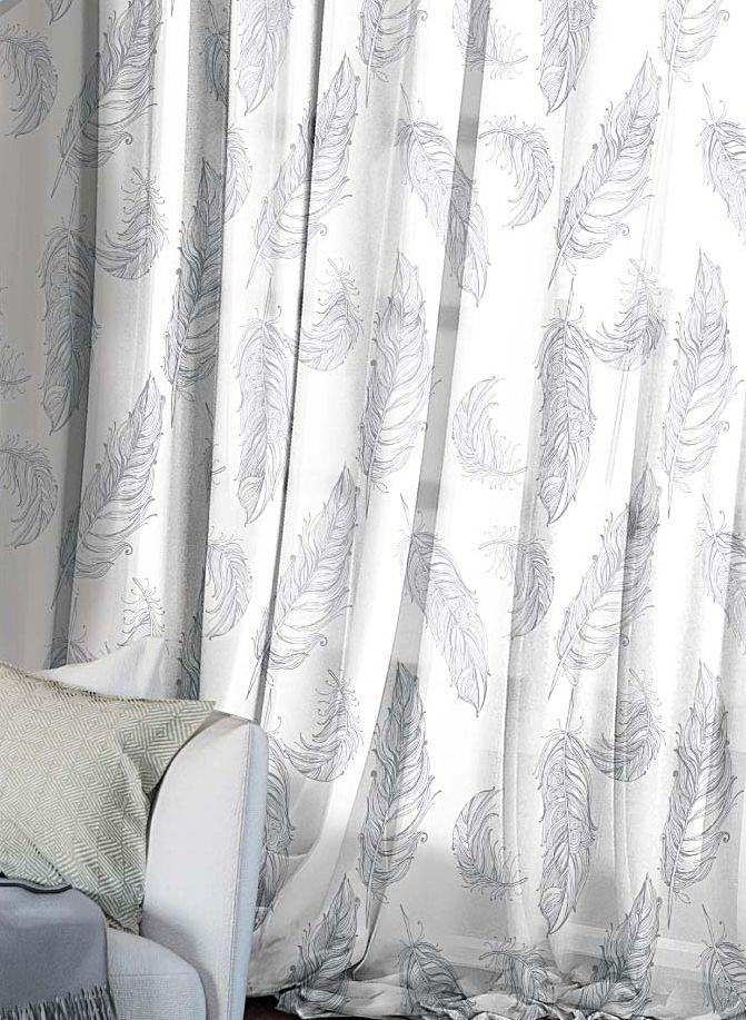 Комплект штор Волшебная ночь Lana, на ленте, высота 270 см, 2 шт705499Шторы коллекции Волшебная ночь - это готовое решение для Вашего интерьера, гарантирующее красоту, удобство и индивидуальный стиль! Шторы изготовлены из тонкой и легкой ткани ВУАЛЬ, которая почти не препятствует прохождению света, но защищает комнату от посторонних взглядов. Длина штор регулируется с помощью клеевой паутинки (в комплекте). Изделия крепятся на вшитую шторную ленту: на крючки или путем продевания на карниз. Дизайнеры Марки предлагают уже сформированные комплекты штор из различных тканей и рисунков для создания идеальной композиции на окне. Для удобства выбора дизайны штор распределены в стилевые коллекции: ЭТНО, ВЕРСАЛЬ, ЛОФТ, ПРОВАНС. В коллекции Волшебная ночь к данной шторе Вы также сможете подобрать шторы из других тканей: БЛЭКАУТ (100% затемненение), сатен и ГАБАРДИН (частичное затемнение), которые будут прекрасно сочетаться по дизайну и обеспечат особый уют Вашему дому.