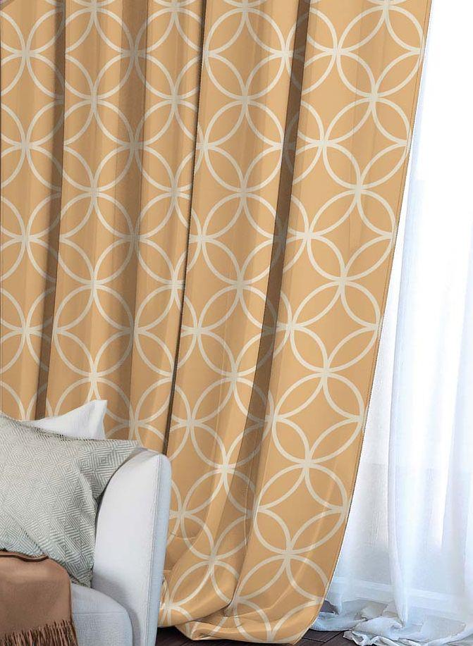 Штора Волшебная ночь Chocolate Mandarin, на ленте, высота 270 см704529Шторы коллекции Волшебная ночь - это готовое решение для Вашего интерьера, гарантирующее красоту, удобство и индивидуальный стиль! Штора изготовлена из приятной на ощупь ткани ГАБАРДИН, которая плотно драпирует окно, но позволяет свету частично проникать внутрь. Длина шторы регулируется с помощью клеевой паутинки (в комплекте). Изделие крепится на вшитую шторную ленту: на крючки или путем продевания на карниз. Дизайнеры Марки предлагают уже сформированные комплекты штор из различных тканей и рисунков для создания идеальной композиции на окне. Для удобства выбора дизайны штор распределены в стилевые коллекции: ЭТНО, ВЕРСАЛЬ, ЛОФТ, ПРОВАНС. В коллекции Волшебная ночь к данной шторе Вы также сможете подобрать шторы из других тканей: БЛЭКАУТ (100% затемненение), сатен (частичное затемнение) и ВУАЛЬ (практически нулевое затемнение), которые будут прекрасно сочетаться по дизайну и обеспечат особый уют Вашему дому.