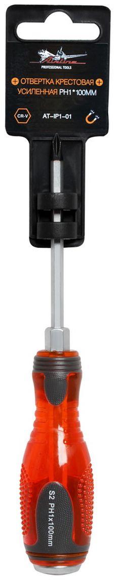 Отвертка крестовая Airline, усиленная под ключ, PH1 х 100 ммAT-IP1-01Отвертка крестовая Airline предназначена для монтажа/демонтажа резьбовых соединений с применением значительных усилий. Лезвие отвертки изготовлено из хром-ванадиевой стали, жало подвержено индукционной закалке и фосфатировано. Лезвие усиленных отверток шестигранной формы, изготовлено из особо прочной стали S2. Под рукояткой имеется усиление под ключ, а сверху пятак для передачи ударных нагрузок. Сочетание твердых и мягких элементов рукоятки оптимально распределяет усилие, прилагаемое к инструменту, и предотвращает проскальзывание. Размер отвертки: PH1 х 100 мм.