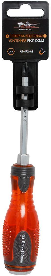 Отвертка крестовая Airline, усиленная под ключ, PH2 х 100 ммAT-IP2-02Отвертка крестовая Airline предназначена для монтажа/демонтажа резьбовых соединений с применением значительных усилий. Лезвие отвертки изготовлено из хром-ванадиевой стали, жало подвержено индукционной закалке и фосфатировано. Лезвие усиленных отверток шестигранной формы, изготовлено из особо прочной стали S2. Под рукояткой имеется усиление под ключ, а сверху пятак для передачи ударных нагрузок. Сочетание твердых и мягких элементов рукоятки оптимально распределяет усилие, прилагаемое к инструменту, и предотвращает проскальзывание. Размер отвертки: PH2 х 100 мм.