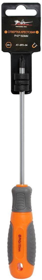 Отвертка крестовая Airline, с эргономичной рукояткой, PH2 х 150 ммAT-SP2-04Отвертка крестовая Airline предназначена для монтажа/демонтажа резьбовых соединений с применением значительных усилий. Лезвие отвертки изготовлено из хром-ванадиевой стали, жало подвержено индукционной закалке и фосфатировано. Лезвие усиленных отверток шестигранной формы, изготовлено из особо прочной стали S2. Сочетание твердых и мягких элементов рукоятки оптимально распределяет усилие, прилагаемое к инструменту, и предотвращает проскальзывание. Отвертка удобно подвешивается за специальное отверстие. Размер отвертки: PH2 х 150 мм.