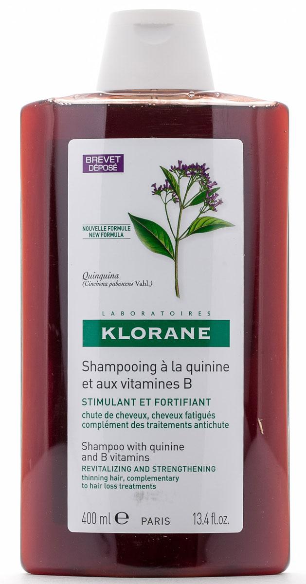 "Klorane Шампунь ""Thinning Hair"" с экстрактом Хинина укрепляющий 400 мл C02839"