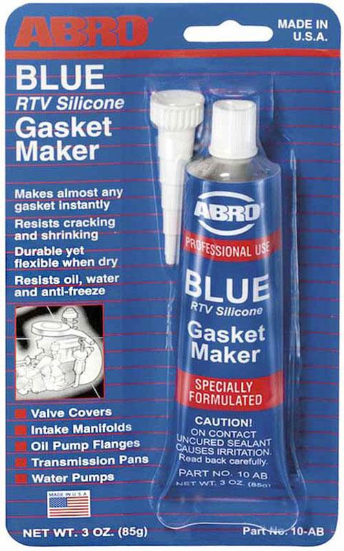 Герметик прокладок Abro, цвет: синий, 85 г10-ABМногоцелевые герметики прокладок Blue, Red, Clear, Black предназначены для ремонта или замены почти всех встречающихся в автомобиле прокладок. Герметик ABRO принимает любую форму и успешно выдерживает сжатие, растяжение и сдвиг; совершенно не разрушается под действием автомобильных масел, воды и антифриза. Также герметик ABRO обладает высокой стойкостью к бензину и тормозной жидкости. Более мягкий герметик прокладок Blue (синий), также как Clear и Black (прозрачный, черный), предназначен для применения при температурах до 260°С, в то время как герметик прокладок Red (красного цвета) разработан для более высоких температур до 343°С.