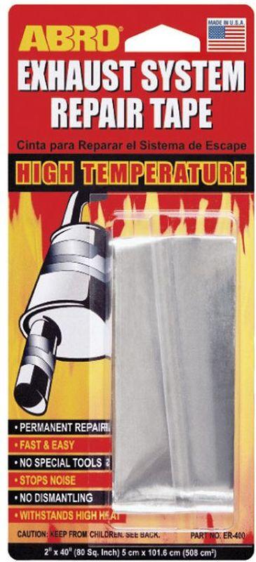 Бандаж глушителя AbroER-400— Предназначен для ремонта выхлопной системы, глушителей, расширительных баков. — Предотвращает выделение вредных газов, выходящих из негерметичных выхлопных систем, уменьшает шум и устраняет прорыв выхлопных газов. — Удобен, быстр и чист в применении. — Изготовлен из алюминия с высокотемпературной клеящей основой. — Обладает длительными термостойкими и герметичными свойствами. — Выдерживает температуры до 400°С. — Не содержит асбест. — Не воспламеняется и не растворяется в воде.