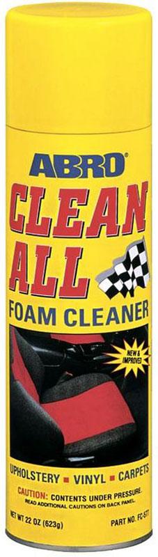 Очиститель-спрей Abro, универсальныйFC-577Эффективно очищает моющиеся и окрашенные поверхности. Сильнодействующая активная пена глубоко проникает в структуру ткани и удаляет пятна. Восстанавливает первоначальный внешний вид виниловых, тканевых, ковровых, резиновых, хромированных и никелированных покрытий. В АВТОМОБИЛЕ МОЖЕТ ПРИМЕНЯТЬСЯ ДЛЯ: — тканевой и виниловой обивки; — ковриков; — напольных и хромовых покрытий. Не применяйте для очистки стекол или наружного лакокрасочного покрытия автомобиля. В случае попадания всегда вытирайте сухой тканью до высыхания. В БЫТУ МОЖЕТ ПРИМЕНЯТЬСЯ ДЛЯ: — фарфоровой и керамической плитки; — керамогранитного покрытия; — хромированных ручек; — вентиляторов; — окрашенных стен; — деревянных и металлических поверхностей; — обивки мебели и ковровых покрытий.