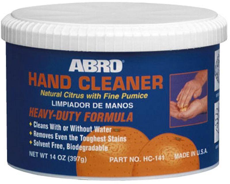 Очиститель для рук AbroHC-141Высокоэффективный очиститель для рук на цитрусовой основе с содержанием пемзы. С легкостью очищает жирные пятна, грязь, чернила, краску. Уникальные ухаживающие компоненты смягчают и защищают кожу рук.