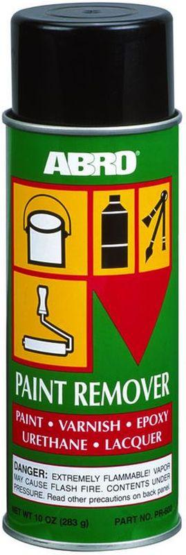 Смывка краски Abro, аэрозольPR-600Смывка краски ABRO — быстродействующий, эффективный способ удалять краски, лаки, а также эмали, шеллак, акриловый полиуритан и нитроцеллюлозу практически со всех видов поверхностей (металл, дерево, бетон), за исключением пластмасс. если вы хотите использовать cмывку краски для пластмассовой поверхности рекомендуется сначала проверить стойкость обрабатываемой поверхности на небольшом участке.