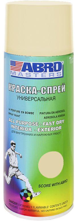 Краска-спрей Abro Masters, цвет: слоновая костьSP-018-AMПрименяется для окраски металлических и деревянных поверхностей различных предметов. Используется как для внутренних (домашних), так и наружных работ. После высыхания не токсична.