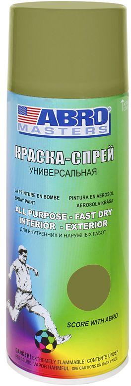 Краска-спрей Abro Masters, цвет: хакиSP-090-AMПрименяется для окраски металлических и деревянных поверхностей различных предметов. Используется как для внутренних (домашних), так и наружных работ. После высыхания не токсична.