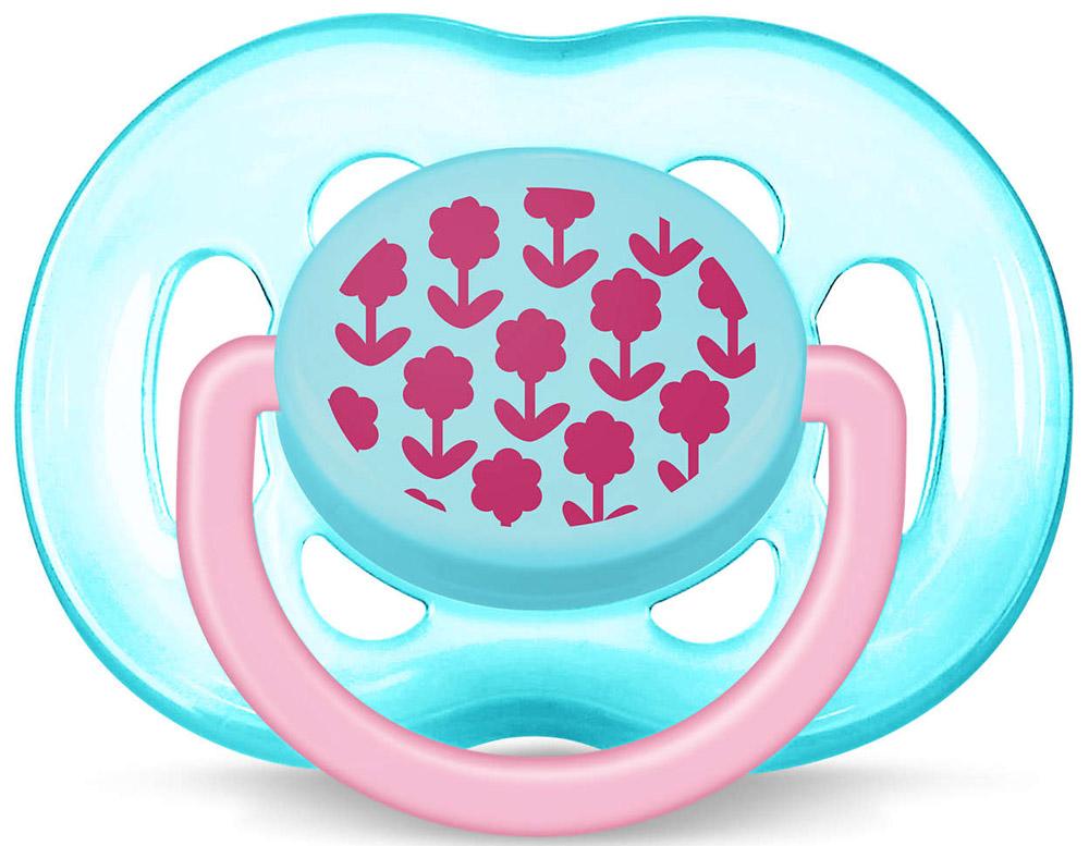 Philips Avent Пустышка ортодонтическая FreeFlow Цветы для девочек 6-18 месяцев