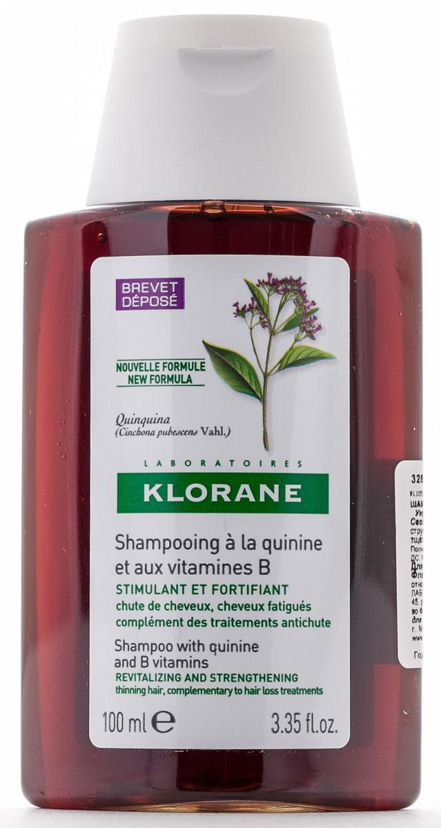 Klorane Шампунь Thinning Hair с экстрактом Хинина укрепляющий 100 млC23696Укрепляющий шампунь с хинином - настоящий источник энергии и силы для усталых волос. Благодаря укрепляющему и стимулирующему действию шампуня с хинином волосы вновь обретают здоровье и красоту. Мягкая моющая основа очищает волосы, не повреждая их, и позволяет мыть голову так часто, как это необходимо. Бережно очищает и укрепляет волосы