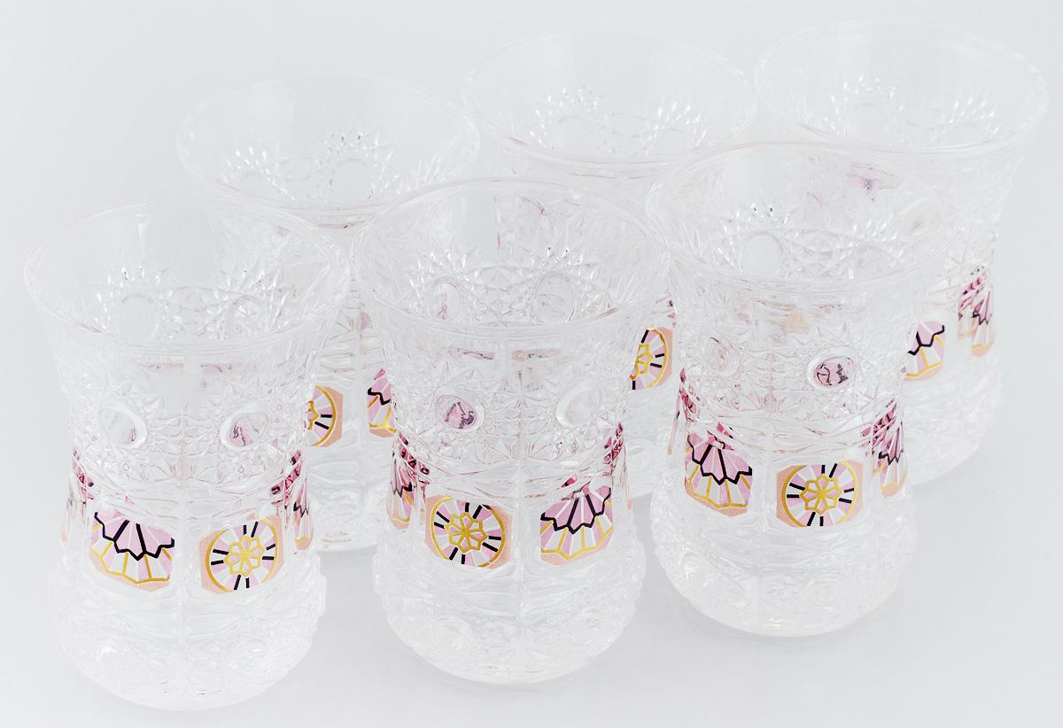 Набор стаканов Loraine, 130 мл, 6 шт. 2467724677Набор Loraine состоит из шести стаканов, выполненных из высококачественного стекла в мягких тонах с оригинальным цветочным узором. Стаканы предназначены для подачи воды, сока и других напитков. Они излучают приятный блеск и издают мелодичный звон. Такой набор прекрасно оформит праздничный стол и создаст приятную атмосферу за романтическим ужином. Не рекомендуется мыть в посудомоечной машине. Изделия подходят для хранения в холодильнике. Диаметр стакана (по верхнему краю): 6,5 см. Высота стакана: 9 см.
