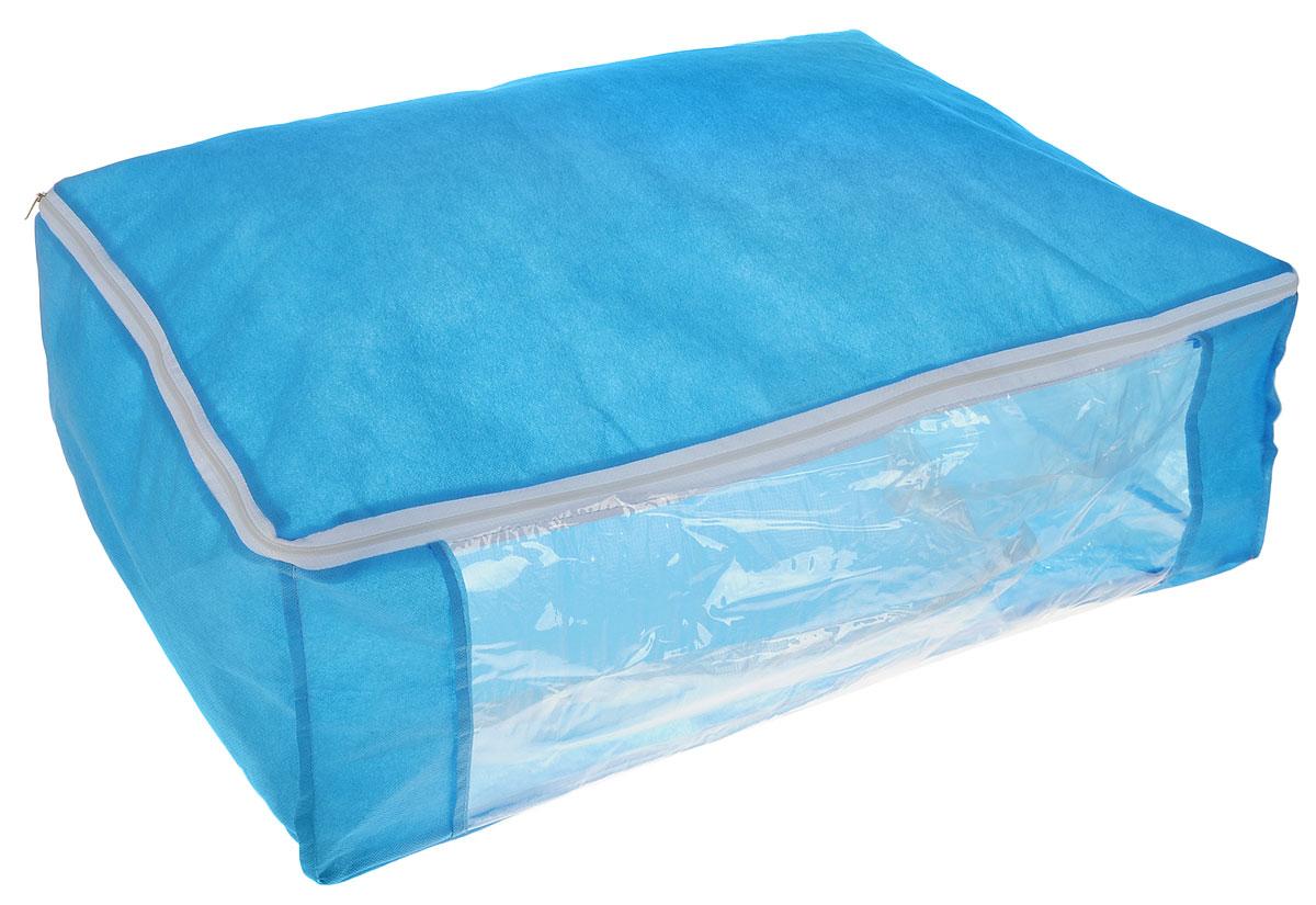 Чехол для хранения одеял Eva, цвет: синий, 60 х 40 х 20 см. Е52Е52_синий( василёк)Чехол Eva изготовлен из ППР и ПВХ и предназначен для хранения одеял. Нетканый материал чехла пропускает воздух, что позволяет изделиям дышать. Это особенно необходимо для изделий из натуральных материалов. Благодаря такому чехлу, вещи не впитывают посторонние запахи. Застегивается на застежку-молнию. Материал: ППР, ПВХ.