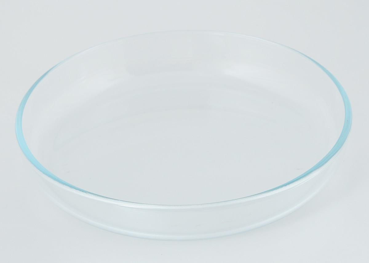 Лоток для запекания Helper, диаметр 26 см4540Лоток для запекания Helper изготовлен из термостойкого боросиликатного стекла, обладает устойчивостью к химическим и ударным воздействиям, высокой термической стойкостью, выдерживает перепад температур до 220°С. Такая посуда безопасна с точки зрения экологии. Она не вступает в реакцию с готовящейся пищей, не боится кислот и солей, не ржавеет, на ней не появляется накипь, она не впитывает запахи и жир. Прозрачность и абсолютная экологичность посуды из термостойкого стекла изменит приготовление даже самых изысканных блюд, а простота ухода, красота и лаконичность форм сделает ее прекрасным подарком. Стеклянная огнеупорная посуда идеальна для приготовления блюд в духовке, микроволновой печи, а также для хранения продуктов в холодильнике и морозильной камере. Можно мыть в посудомоечной машине. Диаметр лотка: 26 см. Высота стенки: 4,5 см.