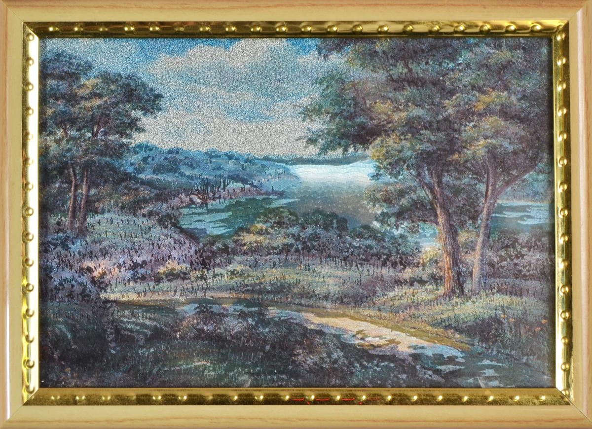 Пейзаж. Картина миниатюра с голографическим эффектом, 2000-е гг