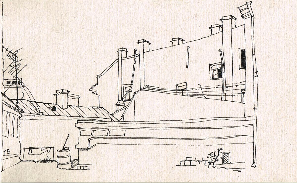 Петербургский двор. Рисунок. Россия, 2000-е гг