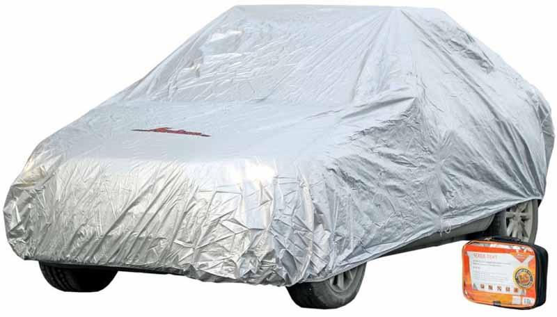 Чехол-тент на автомобиль Airline, защитный, цвет: серый, 495 х 195 х 120 см, размер MAC-FC-02Чехол-тент Airline для транспортного средства выполнен из 100% полиэстера. Чехол поможет сохранить лакокрасочный корпус автомобиля, предохранит его от разнообразных погодных и механических воздействий, а также скроет автомобиль от посторонних взглядов. Чехол размера М универсален и подходит для использования на автомобилях категории D и E. Защитная молния, которая находится на уровне двери автомобиля, обеспечивает доступ к машинному салону.
