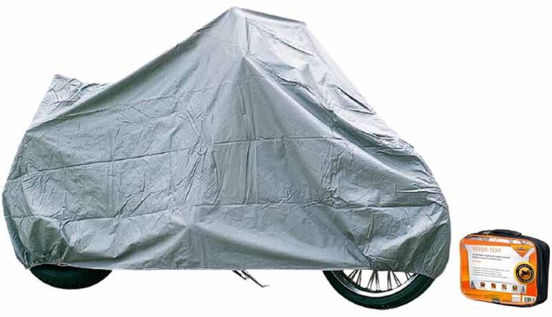 """Чехол-тент на мотоцикл """"Airline"""", защитный, универсальный, цвет: серый, 225 х 90 х 110 см, размер М AC-MC-05"""