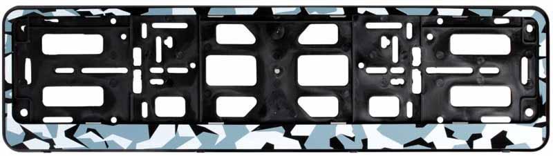 Рамка под номерной знак Airline Зима, цвет: камуфляжAFC-08Расширение ассортимента произошло за счет популярных расцветок – камуфляж летний и зимний, а так же рамки имеют новый конструктив в виде двусоставной рамки-книжки. Преимущества: - Морозостойкий материал; - Простое и надежное крепление; - Российско-европейский размер; - Стильный дизайн; -Соответствует требованиям ГИБДД Состав: полипропилен