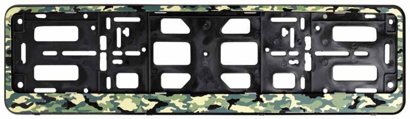 Рамка под номерной знак Airline Лето, цвет: камуфляжAFC-09Расширение ассортимента произошло за счет популярных расцветок – камуфляж летний и зимний, а так же рамки имеют новый конструктив в виде двусоставной рамки-книжки. Преимущества: - Морозостойкий материал; - Простое и надежное крепление; - Российско-европейский размер; - Стильный дизайн; -Соответствует требованиям ГИБДД Состав: полипропилен