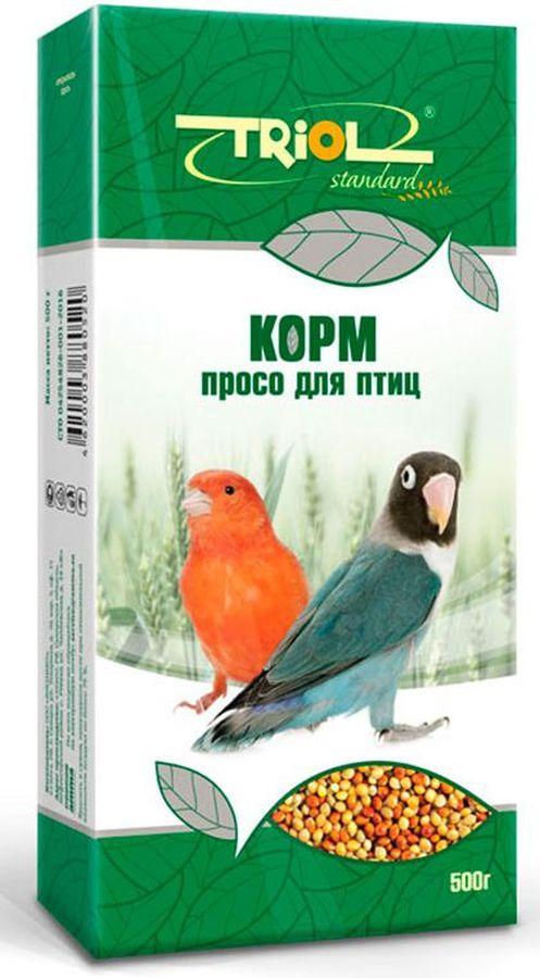 Корм Тriol Standard. Просо для птиц, 500 гКф-01100Просо - незаменимо для здорового питания птиц. Такой корм обогащен витаминами, необходимыми для правильного развития пернатых питомцев. Просо для птиц - это уникальный коктейль из зерен проса от компании Triol, тщательно отобранных и высушенных на солнце. Данный продукт представляет собой полнорационный корм для птиц, таких как канарейки и волнистые попугайчики, он содержит оптимальное количество растительных белков и клетчатки для обеспечения организма птицы жизнедеятельностью. Кроме того зерна проса насыщены минеральными веществами и витаминами, среди которых фосфор, минеральные соли и жиры, способствующие улучшению работы пищеварительной системы и улучшая общий обмен веществ. Данный продукт отлично подходит для смешивания с другими видами кормов, благодаря чему вы сможете составить идеальный питательный баланс для своей птицы. Просо долго храниться и очень стойкое к вредителям. Позаботьтесь о здоровье и счастье ваших птиц с уникальными кормами от компании Triol!