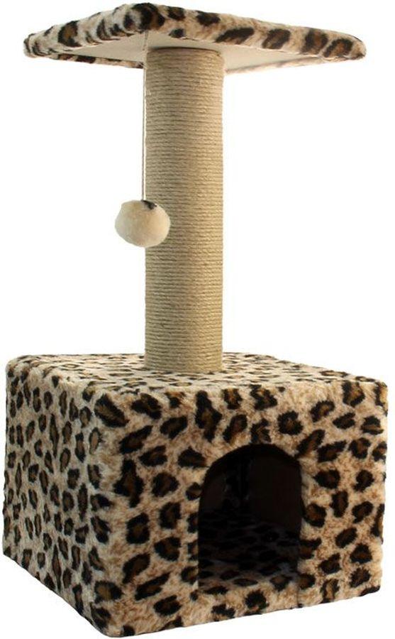 Игровой комплекс Гамма для кошек, квадратный, цвет: бежевый, черный, 350 х 350 х 770 ммЩг-18800блУниверсальный комплекс с домиком и удобной площадкой – это лучший выбор для вашей кошки. Просторный домик (350х350мм) с комфортным входом послужит отличным укрытием, а площадка наверху (300х300мм) – прекрасным местом для отдыха и наблюдения. Джутовый столбик (d80х380мм) отлично подойдет для заточки коготков, а мягкая игрушка станет дополнительным бонусом.