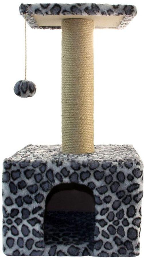 Игровой комплекс Гамма для кошек, квадратный, цвет: серый, черный, 350 х 350 х 770 ммЩг-18800слУниверсальный комплекс с домиком и удобной площадкой – это лучший выбор для вашей кошки. Просторный домик (350х350мм) с комфортным входом послужит отличным укрытием, а площадка наверху (300х300мм) – прекрасным местом для отдыха и наблюдения. Джутовый столбик (d80х380мм) отлично подойдет для заточки коготков, а мягкая игрушка станет дополнительным бонусом.