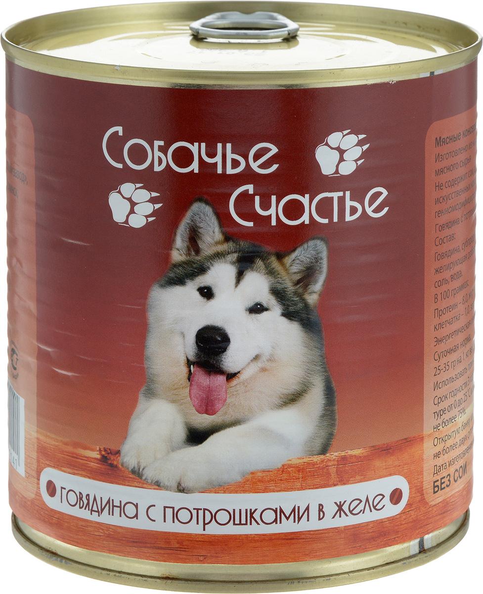 Консервы для собак Собачье Счастье, говядина с потрошками в желе, 750 г00-00001445Мясные консервы для кошек Собачье Счастье изготовлены из натурального российского мясного сырья. Не содержат сои, ароматизаторов, искусственных красителей, генномодифицированных ингредиентов. Корм полностью удовлетворяет ежедневные энергетические потребности животного и обеспечивает оптимальное функционирование пищеварительной системы. Товар сертифицирован.
