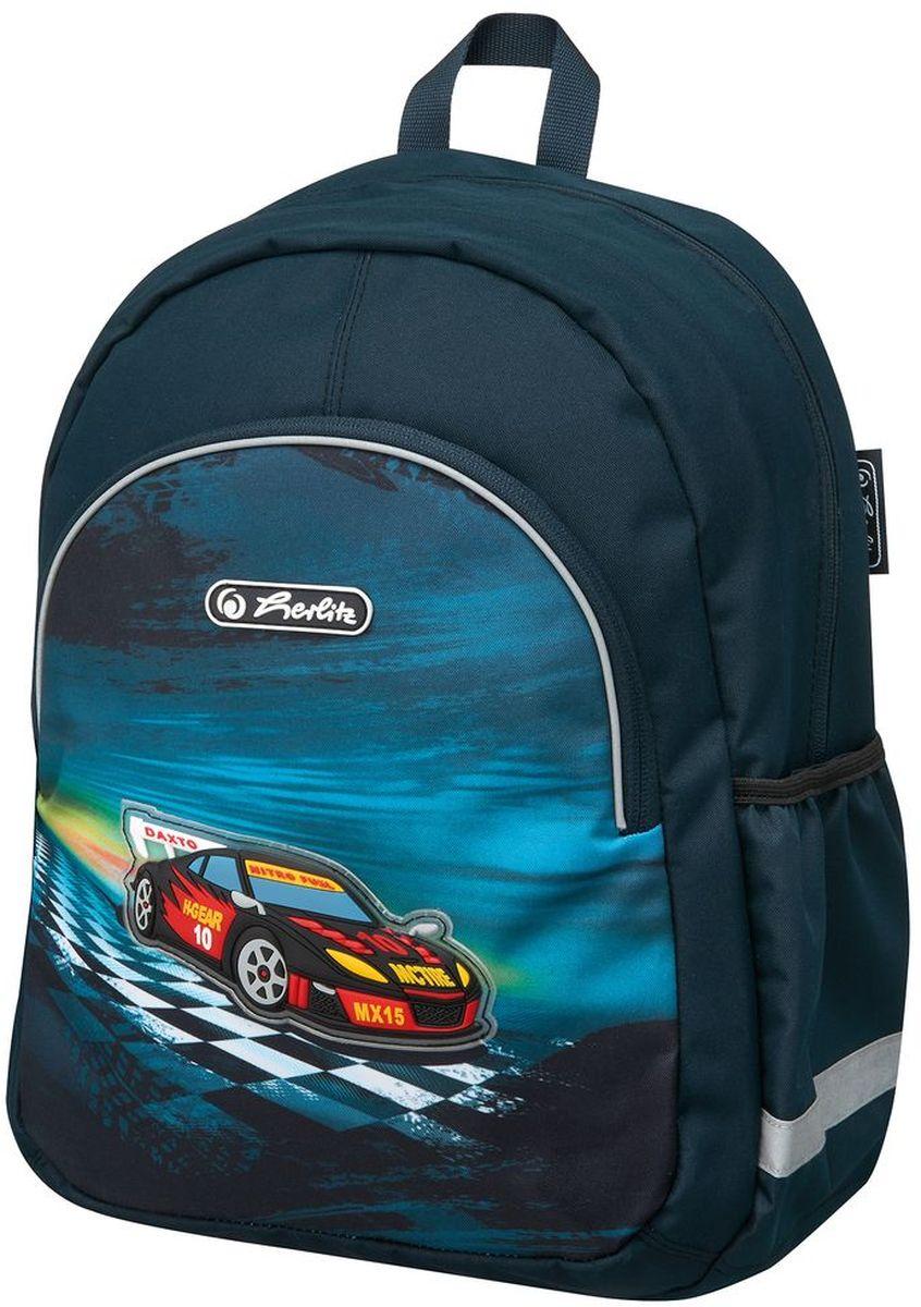 Herlitz Рюкзак школьный Super Racer50007974Рюкзак Super Racer - размеры 37х26х14 см - яркий, привлекательный дизайн - наружный карман на молнии - вентилируемые спинка и лямки вес 300 гр