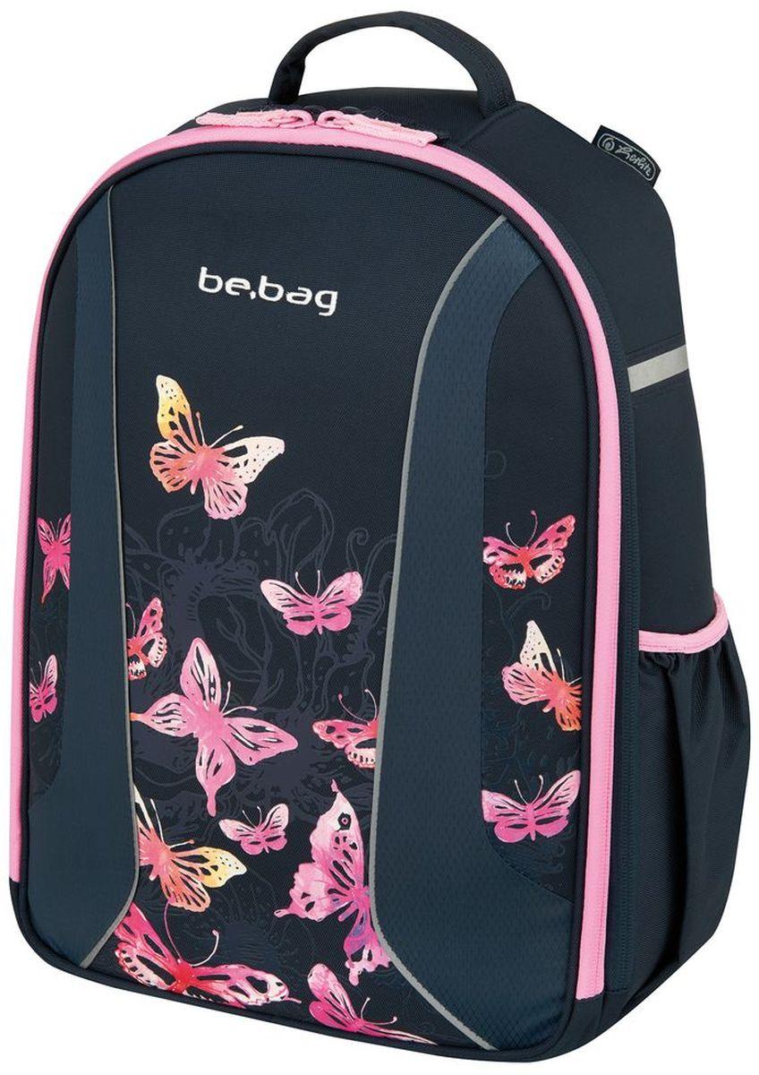 Herlitz Рюкзак школьный Be.Bag Airgo Butterfly50008193Рюкзак Be.Bag Airgo Butterfly - размеры 43х32х18см - прочный корпус из жесткого материала - два больших внутренних отделения - эргономичная спинка - 3 -уровневая система регулировки лямок Ergo System ES2 - светоотражатели - органайзер