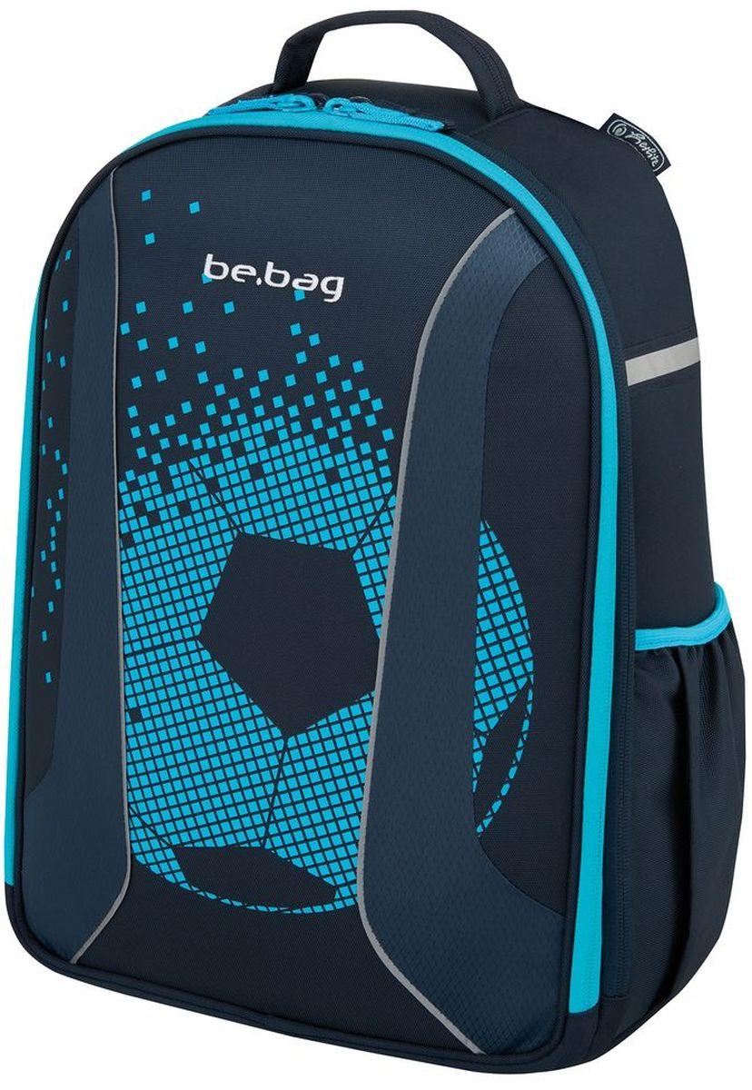 Herlitz Рюкзак школьный Be.Bag Airgo Soccer50008230Рюкзак Be.Bag Airgo Soccer - размеры 43х32х18см - прочный корпус из жесткого материала - два больших внутренних отделения - эргономичная спинка - 3 -уровневая система регулировки лямок Ergo System ES2 - светоотражатели - органайзер