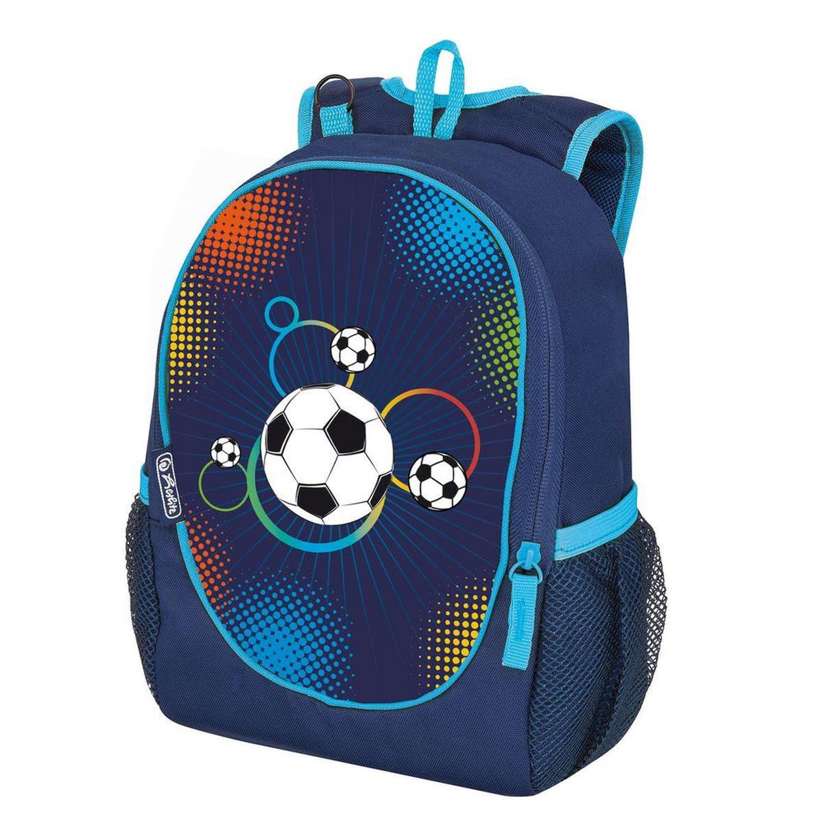 Herlitz Рюкзак школьный Rookie Soccer50009411Рюкзак Rookie Soccer - размеры 29х21х10 см, - яркий, привлекательный дизайн - основное отделение на молнии - вентилируемые спинка и лямки вес 150 гр